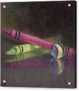 Crossing Over Acrylic Print by Debbie Lamey-MacDonald