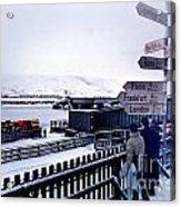 Crossroads In Iceland Acrylic Print by Wernher Krutein