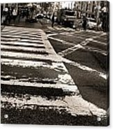 Crosswalk In New York City Acrylic Print by Dan Sproul
