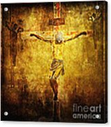 Crucified Via Dolorosa 12 Acrylic Print by Lianne Schneider