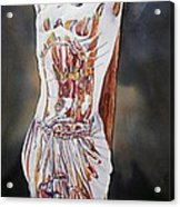 Crucifijo En Plata Acrylic Print by Patrick DuMouchel