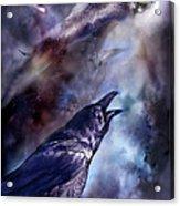 Cry Of The Raven Acrylic Print by Carol Cavalaris