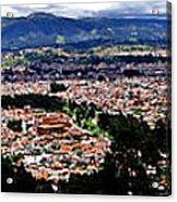 Cuenca And Turi Panorama Acrylic Print by Al Bourassa