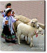 Cuenca Kids 233 Acrylic Print by Al Bourassa