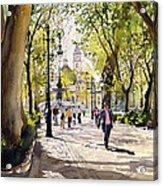 Cuesta Genil Acrylic Print by Margaret Merry