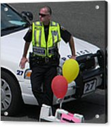 Cupcake And Balloon Checkpoint Acrylic Print by Christy Usilton