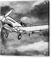 Curtiss P-40 Warhawk 2 Acrylic Print by Scott Nelson