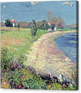 Curving Beach Acrylic Print by William James Glackens