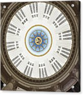 Custom House Tower Ceiling Boston Acrylic Print by Norman Pogson
