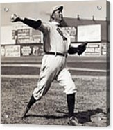 Cy Young - American League Pitching Superstar - 1908 Acrylic Print by Daniel Hagerman