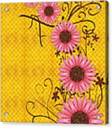 Daisies Design - S01y Acrylic Print by Variance Collections