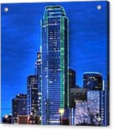 Dallas Skyline Hd Acrylic Print by Jonathan Davison