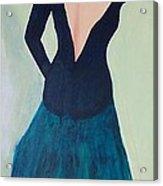 Dame De L'opera Acrylic Print by Lucie  Menard