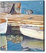 Dana Point Harbor Boats Acrylic Print by Sharon Weaver