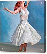 Dancer In White Acrylic Print by Paul Krapf