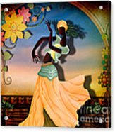 Dancer Of The Balcony Acrylic Print by Bedros Awak