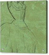 Dancer With Raised Arms Acrylic Print by Edgar Degas