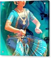 Dancing Girl With Gold Necklace Acrylic Print by Janette Boyd
