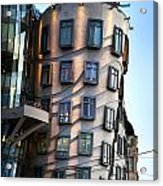 Dancing House In Prague Acrylic Print by Jelena Jovanovic