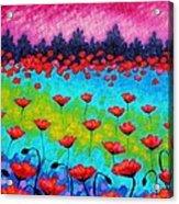 Dancing Poppies Acrylic Print by John  Nolan