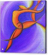 Dancing Sprite In Purple And Orange Acrylic Print by Tiffany Davis-Rustam