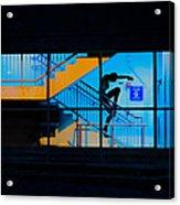 Dancing To Floor G Night People Acrylic Print by Bob Orsillo