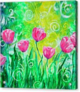 Dancing Tulips Acrylic Print by Jan Marvin
