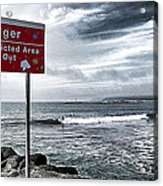 Danger Restricted Area Keep Out Acrylic Print by Ron Regalado