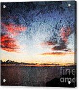 Dark Angel Acrylic Print by Stelios Kleanthous