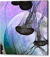 Dark Side Of The Moon 5d24939 Painterly P180 Long Acrylic Print by Wingsdomain Art and Photography