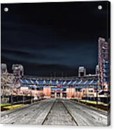 Dark Skies At Citizens Bank Park Acrylic Print by Bill Cannon