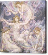 Daughters Of The Mist Acrylic Print by Evelyn De Morgan