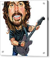 Dave Grohl Acrylic Print by Art