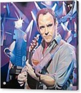 Dave Matthews And 2007 Lights Acrylic Print by Joshua Morton