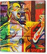 Dave Matthews-bartender Acrylic Print by Joshua Morton