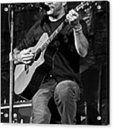 Dave Matthews On Guitar 9  Acrylic Print by The  Vault - Jennifer Rondinelli Reilly