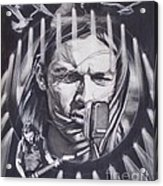 David Gilmour Of Pink Floyd - Echoes Acrylic Print by Sean Connolly