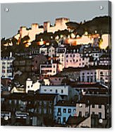 Dawn At St. George Castle Lisbon Acrylic Print by Linda  Parker