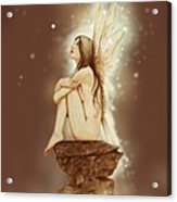 Daydreaming Faerie Acrylic Print by John Silver