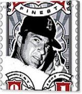 Dcla Carl Yastrzemski Fenway's Finest Stamp Art Acrylic Print by David Cook Los Angeles