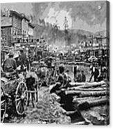 Deadwood South Dakota C. 1876 Acrylic Print by Daniel Hagerman
