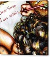 Dear Santa Acrylic Print by Hiroko Sakai