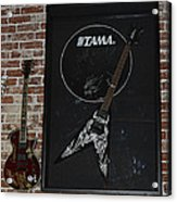 Death By Stereo Band Memorabilia-autographed Guitar Acrylic Print by Renee Anderson