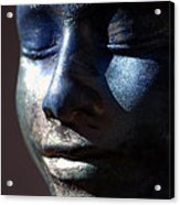 Death Mask Acrylic Print by Glenn McGloughlin