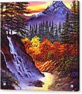 Deep Canyon Falls Acrylic Print by David Lloyd Glover