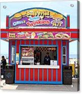 Deep Fried Hostess Twinkies At The Santa Cruz Beach Boardwalk California 5d23689 Acrylic Print by Wingsdomain Art and Photography