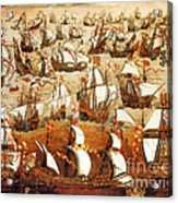 Defeat Of The Spanish Armada 1588 Acrylic Print by Photo Researchers