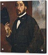 Degas, Edgar 1834-1917. Self-portrait Acrylic Print by Everett