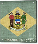 Delaware State Flag Acrylic Print by Pixel Chimp