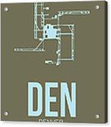 Den Denver Airport Poster 3 Acrylic Print by Naxart Studio